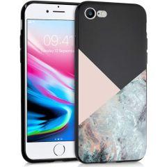iMoshion Design Hülle iPhone SE (2020) / 8 / 7 - Marmor - Rosa