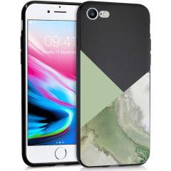 iMoshion Design Hülle iPhone SE (2020) / 8 / 7 - Marmor - Grün