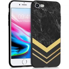 iMoshion Design Hülle iPhone SE (2020) / 8 / 7 - Marmor - Gold