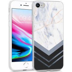 iMoshion Design Hülle iPhone SE (2020) / 8 / 7 / 6(s) - Marmor - Weiß