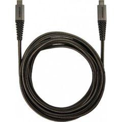 OtterBox Braided USB-C-zu-USB-C Kabel - 3 Meter - Schwarz