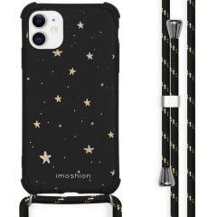 iMoshion Design Hülle mit Band iPhone 11 - Sterne - Schwarz / Gold