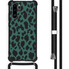 iMoshion Design Hülle mit Band Huawei P30 Pro - Leopard - Grün