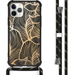 iMoshion Design Hülle mit Band iPhone 11 Pro - Blätter - Gold