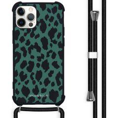 iMoshion Design Hülle mit Band iPhone 12 (Pro) - Leopard - Grün