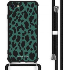 iMoshion Design Hülle mit Band iPhone SE (2020) / 8 / 7 - Leopard