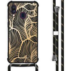 iMoshion Design Hülle mit Band Samsung Galaxy A40 - Blätter - Gold