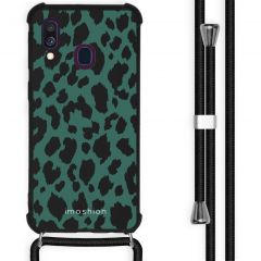 iMoshion Design Hülle mit Band Samsung Galaxy A40 - Leopard - Grün