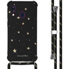 iMoshion Design Hülle mit Band Samsung Galaxy A40 - Sterne - Schwarz