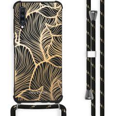 iMoshion Design Hülle mit Band Samsung Galaxy A70 - Blätter - Gold
