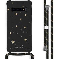 iMoshion Design Hülle mit Band Samsung Galaxy S10 - Sterne - Schwarz