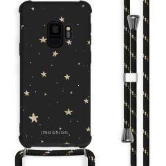 iMoshion Design Hülle mit Band Samsung Galaxy S9 - Sterne - Schwarz