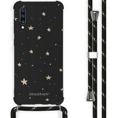iMoshion Design Hülle mit Band Samsung Galaxy A70 - Sterne - Schwarz