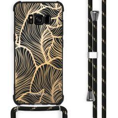 iMoshion Design Hülle mit Band Samsung Galaxy S8 - Blätter - Gold