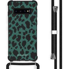 iMoshion Design Hülle mit Band Samsung Galaxy S10 Plus - Leopard