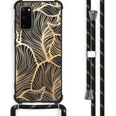 iMoshion Design Hülle mit Band Samsung Galaxy S20 - Blätter - Gold