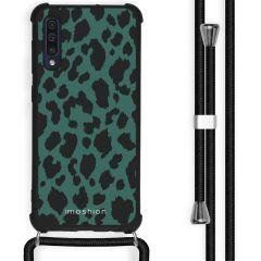 iMoshion Design Hülle mit Band Samsung Galaxy A50 - Leopard - Grün
