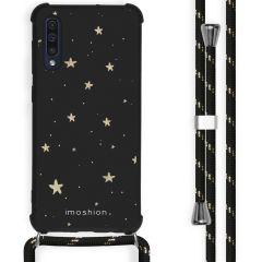 iMoshion Design Hülle mit Band Samsung Galaxy A50 - Sterne - Schwarz