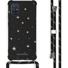 iMoshion Design Hülle mit Band Samsung Galaxy A71 - Sterne - Schwarz