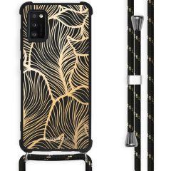 iMoshion Design Hülle mit Band Samsung Galaxy A41 - Blätter - Gold