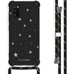 iMoshion Design Hülle mit Band Samsung Galaxy A41 - Sterne - Schwarz