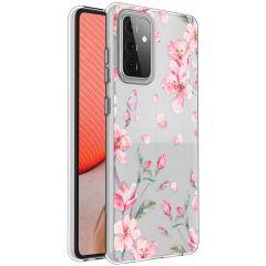 iMoshion Design Hülle Samsung Galaxy A72 - Blume - Rosa