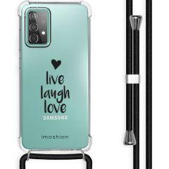 iMoshion Design Hülle mit Band Galaxy A52(s) (5G/4G) - Live Laugh Love