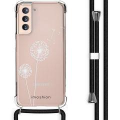 iMoshion Design Hülle mit Band Samsung Galaxy S21 - Pusteblume - Weiß