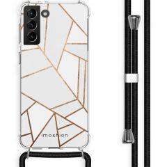 iMoshion Design Hülle mit Band Galaxy S21 Plus - Grafik-Kupfer