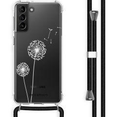 iMoshion Design Hülle mit Band Galaxy S21 Plus - Pusteblume - Weiß