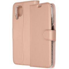 Accezz Wallet TPU Booklet für das Samsung Galaxy A12 - Roségold