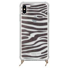 My Jewellery Design Soft Case Kordelhülle iPhone Xs / X - Zebra