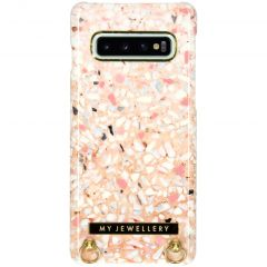 My Jewellery Design Hard Case Kordelhülle Galaxy S10 - Pink Brick