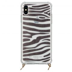 My Jewellery Design Soft Case Kordelhülle iPhone Xs Max - Zebra