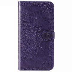 Mandala Booktype-Hülle Violett Xiaomi Redmi Note 8 Pro