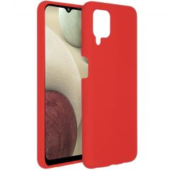 Accezz Liquid Silikoncase Samsung Galaxy A12 - Rot