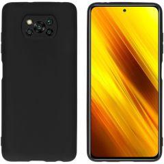 iMoshion Color TPU Hülle für das Xiaomi Poco X3 (Pro)  - Schwarz