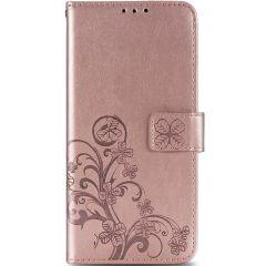 Kleeblumen Booktype Hülle Xiaomi Redmi Note 9 - Roségold
