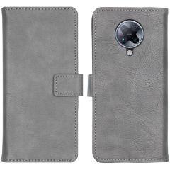 iMoshion Luxuriöse Buchtyp-Hülle Xiaomi Poco F2 Pro - Grau