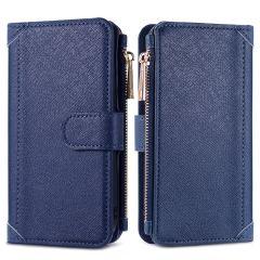 iMoshion Luxuriöse Portemonnaie-Hülle Samsung Galaxy A12 - Dunkelblau