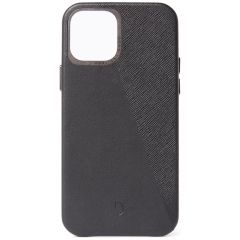 Decoded Dual Leather Backcover für das iPhone 12 (Pro) - Schwarz