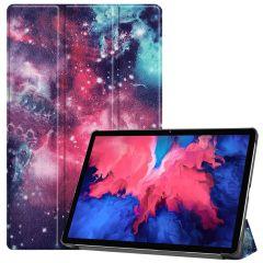 iMoshion Design Trifold Bookcase  Lenovo Tab P11 - Space