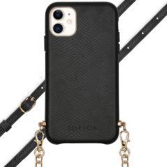 Selencia Aina Hülle aus Schlangenleder mit Band iPhone 11 - Schwarz