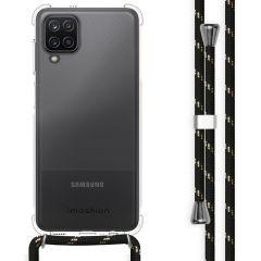 iMoshion Backcover mit Band Samsung Galaxy A12 - Schwarz / Gold