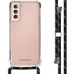 iMoshion Backcover mit Band Samsung Galaxy S21 - Schwarz / Gold