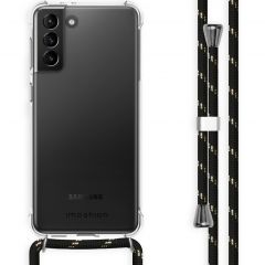 iMoshion Backcover mit Band Samsung Galaxy S21 Plus - Schwarz / Gold