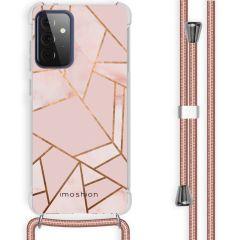iMoshion Design Hülle mit Band Galaxy A72 - Grafik-Kupfer - Rosa
