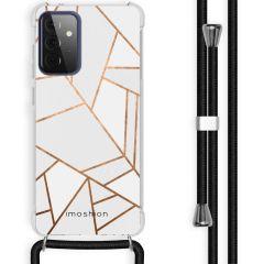 iMoshion Design Hülle mit Band Galaxy A72 - Grafik-Kupfer - Weiß