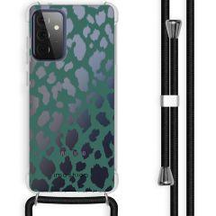 iMoshion Design Hülle mit Band Galaxy A72 - Leopard - Grün