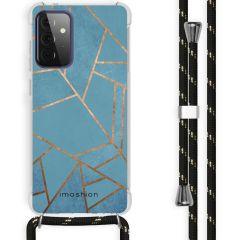iMoshion Design Hülle mit Band Galaxy A72 - Grafik-Kupfer - Blau